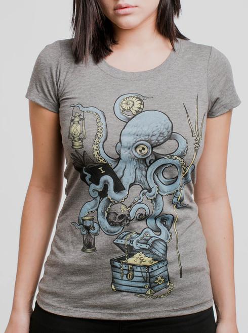 Evolution - Multicolor on Heather Grey Triblend Junior Womens T-Shirt