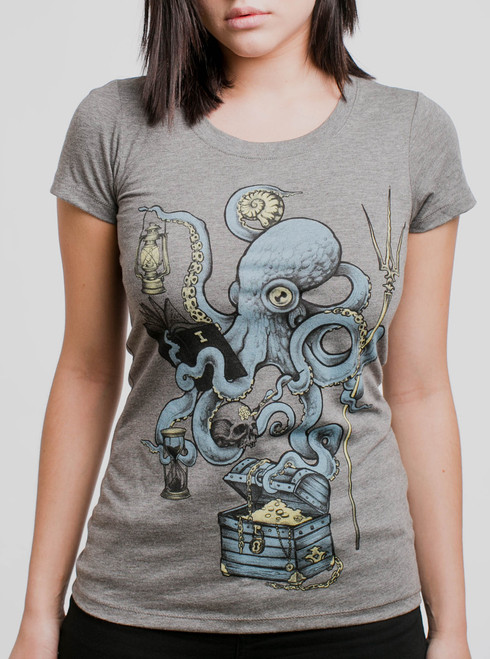 Evolution - Multicolor on Heather Grey Triblend Womens T-Shirt