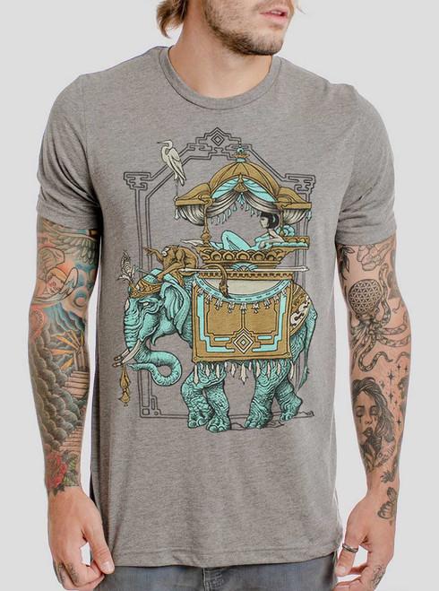 Onward - Multicolor on Heather Grey Triblend Mens T Shirt