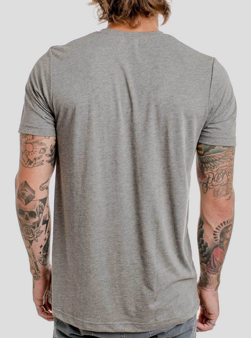 Deity - Multicolor on Heather Grey Triblend Mens T Shirt
