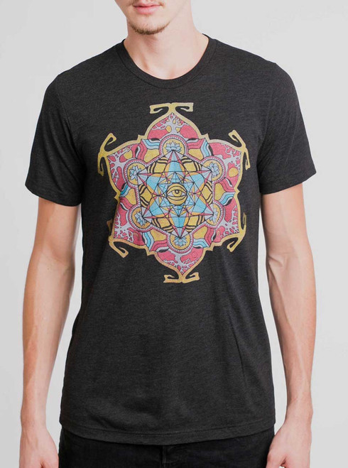 Cycles - Multicolor on Heather Black Triblend Mens T Shirt