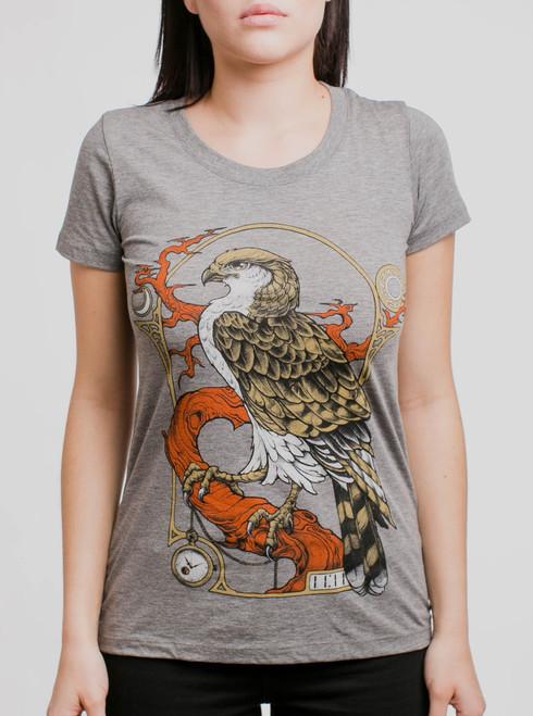 Hawk - Multicolor on Heather Grey Triblend Womens T-Shirt