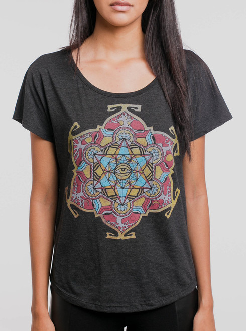 Cycles - Multicolor on Black Triblend Womens Dolman T Shirt