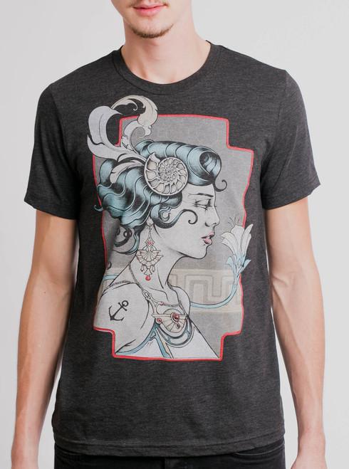 Venus - Multicolor on Heather Black Triblend Mens T Shirt