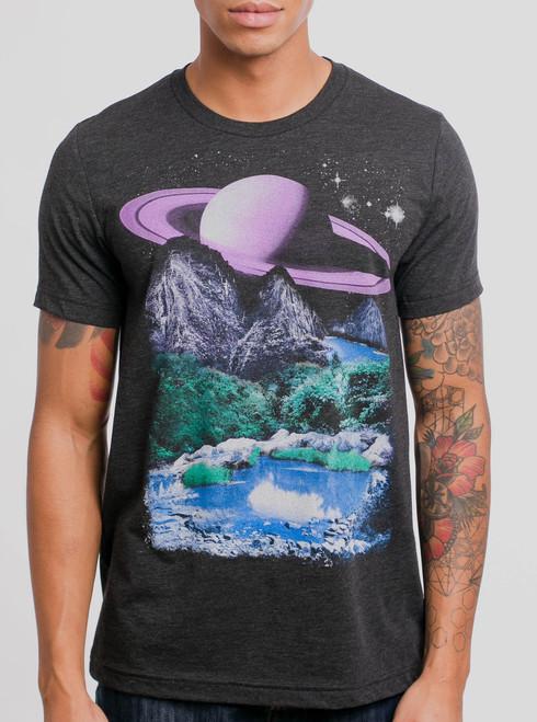 Alien World - Multicolor on Heather Black Triblend Mens T Shirt