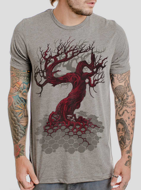 Reclamation - Multicolor on Heather Grey Triblend Mens T Shirt