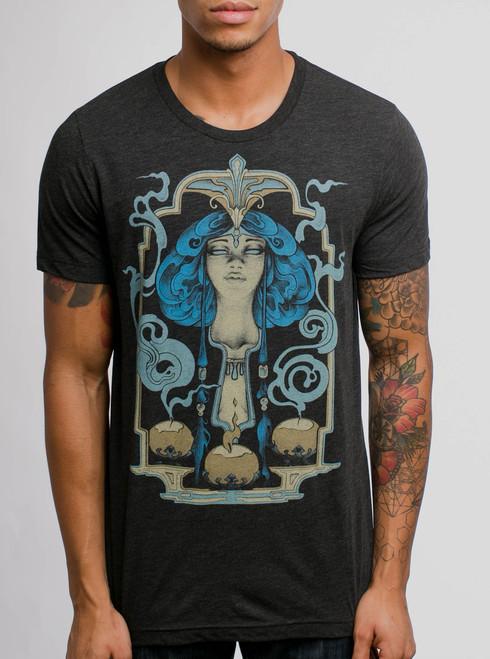 Presence - Multicolor on Heather Black Triblend Mens T Shirt