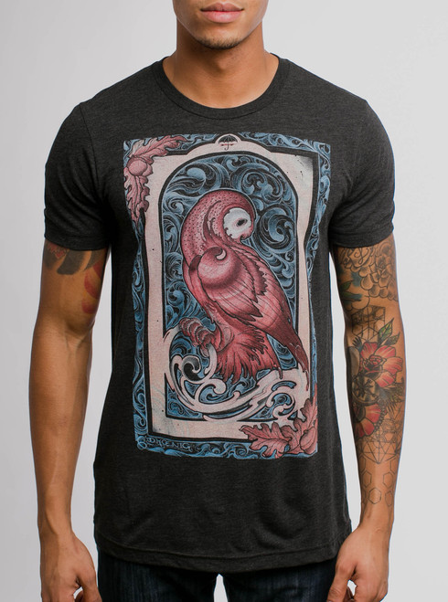 Forbearance - Multicolor on Heather Black Triblend Mens T Shirt