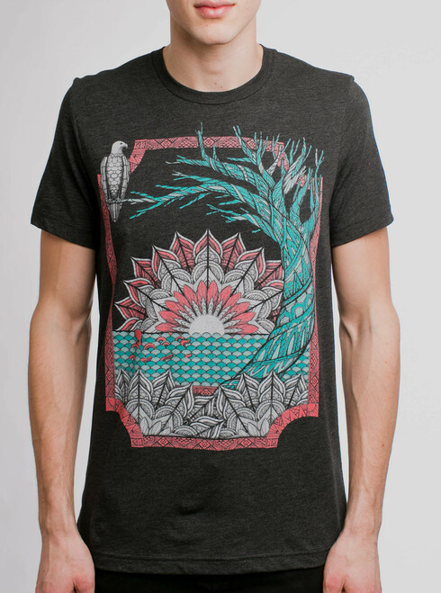 Octo & Eagle - Multicolor on Heather Black Triblend Mens T Shirt