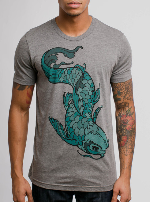 Koi - Multicolor on Heather Grey Triblend Mens T Shirt