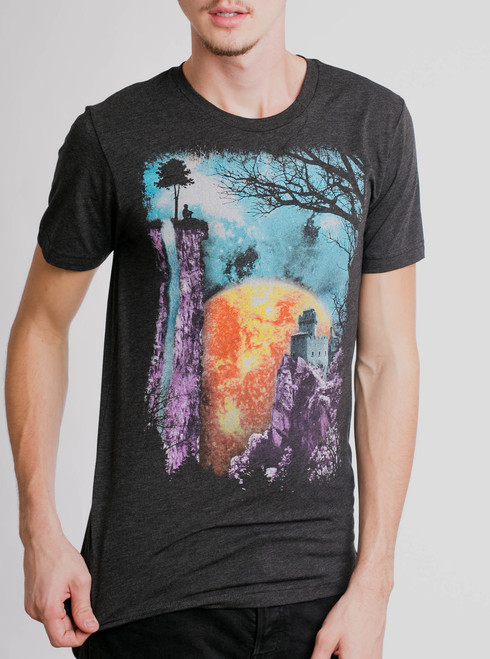 The End - Multicolor on Heather Black Triblend Mens T Shirt