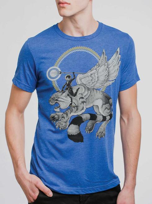 Battle Cat - Multicolor on Heather Royal Triblend Mens T Shirt