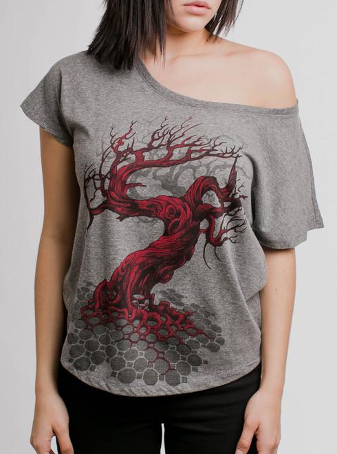 Reclamation - Multicolor on Heather Grey Triblend Womens Dolman T Shirt