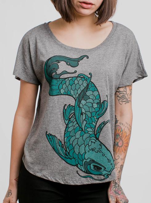 Koi - Multicolor on Heather Grey Triblend Womens Dolman T Shirt