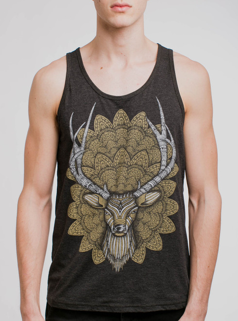 60b5e58d14e72 Jelly - Multicolor on Heather Grey Triblend Mens Tank Top - Curbside ...