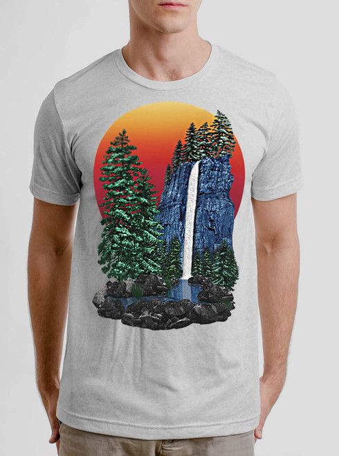 The Forest - Multicolor on Heather White Triblend Mens T Shirt