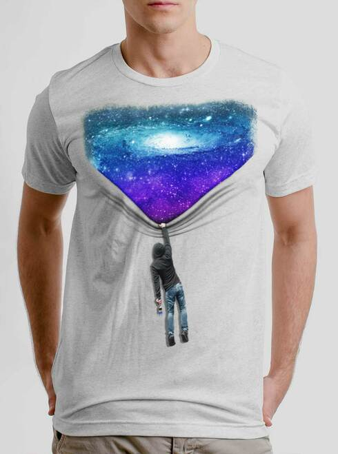 Hang Man - Multicolor on Heather White Triblend Men's T Shirt