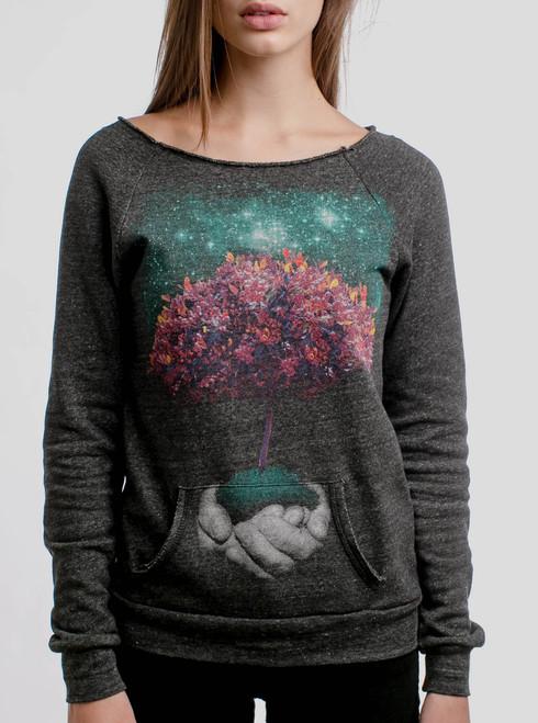 Creation - Multicolor on Charcoal Women's Maniac Sweatshirt