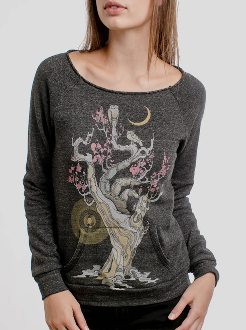 Night Owls - Multicolor on Charcoal Women's Maniac Sweatshirt