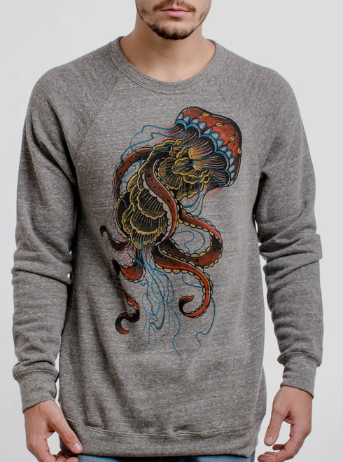 Jelly - Multicolor on Grey Triblend  Men's Sweatshirt