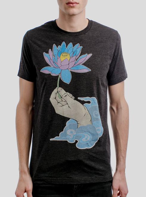 Enlightenment - Multicolor on Heather Black Triblend Mens T Shirt