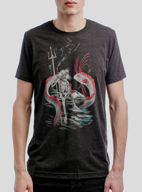 Oarfish - Multicolor on Heather Black Triblend Mens T Shirt