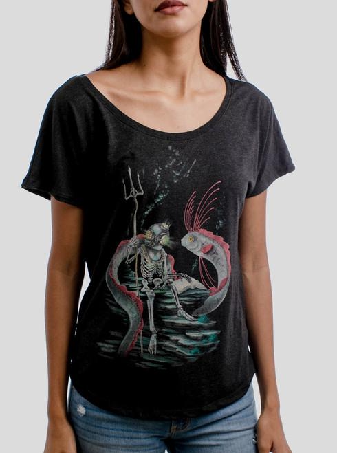Oarfish - Multicolor on Heather Black Triblend Womens Dolman T Shirt