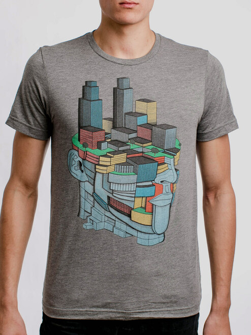 Street Smart - Multicolor on Heather Grey Triblend Mens T Shirt
