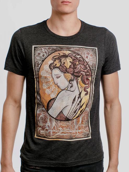 Medusa - Multicolor on Heather Black Triblend Mens T Shirt