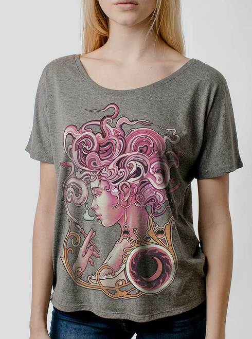 Daydreamer - Multicolor on Heather Grey Triblend Womens Dolman T Shirt