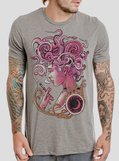 Daydreamer - Multicolor on Heather Grey Triblend Mens T Shirt