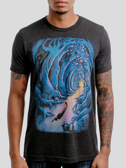 Wanderer - Multicolor on Heather Black Triblend Mens T Shirt
