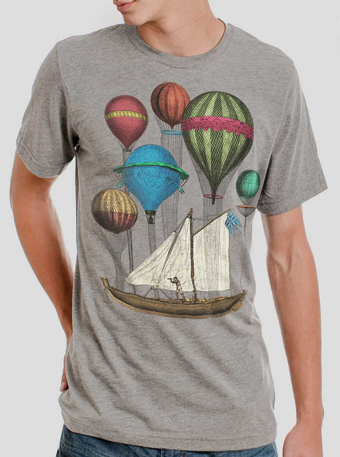 Set Sail - Multicolor on Heather Grey Triblend Mens T Shirt