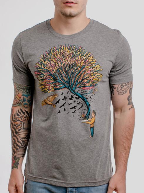Imagination - Multicolor on Heather Grey Triblend Mens T Shirt