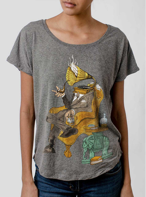 Music Man - Multicolor on Heather Grey Triblend Womens Dolman T Shirt