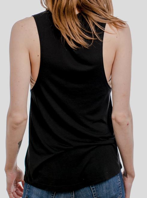 fee6836ea Koi Balance - Multicolor on Black Women's Muscle Tank Top - Curbside ...