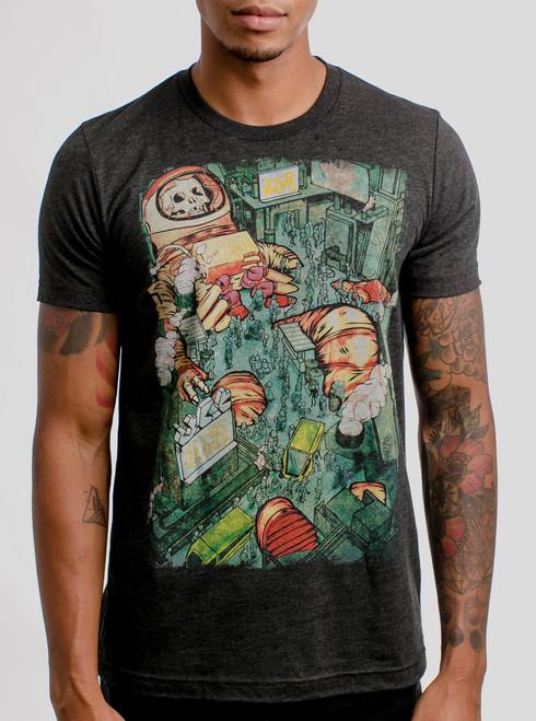 Dead Astro City - Multicolor on Heather Black Triblend Mens T Shirt
