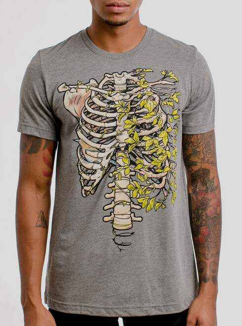 Ribs - Multicolor on Heather Grey Triblend Mens T Shirt