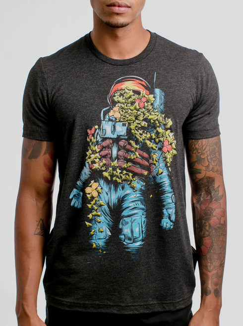 Astro Bloom - Multicolor on Heather Black Triblend Mens T Shirt