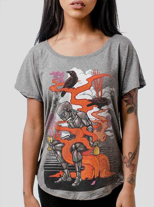 Automaton - Multicolor on Heather Grey Triblend Womens Dolman T Shirt