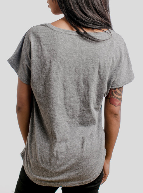 Automaton - Multicolor on Heather Grey Triblend Womens Dolman T Shirt