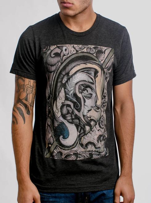 Athena - Multicolor on Heather Black Triblend Mens T Shirt