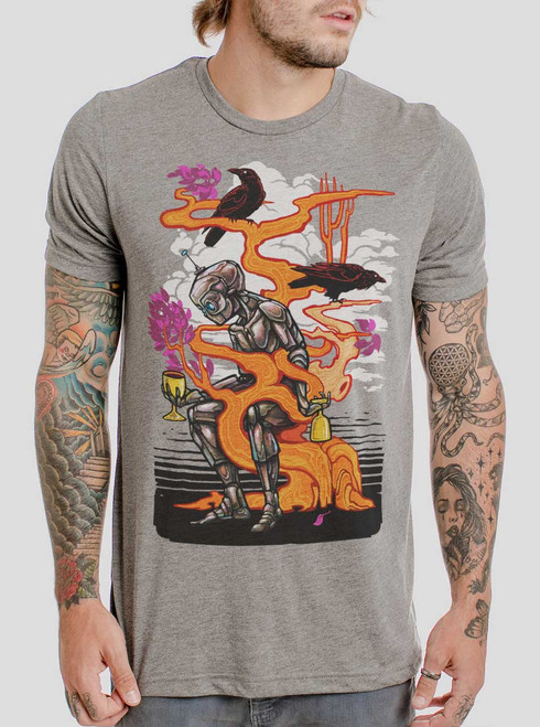 Automaton - Multicolor on Heather Grey Triblend Mens T Shirt