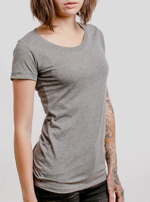 Grey Triblend Crew - Blank Women's T-Shirt