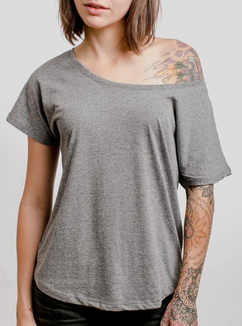 Grey Triblend - Blank Women's Dolman