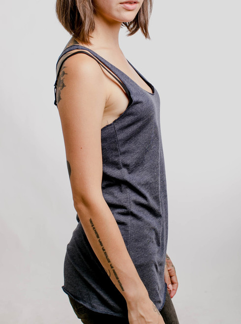 Navy Triblend - Blank Women's Tank Top