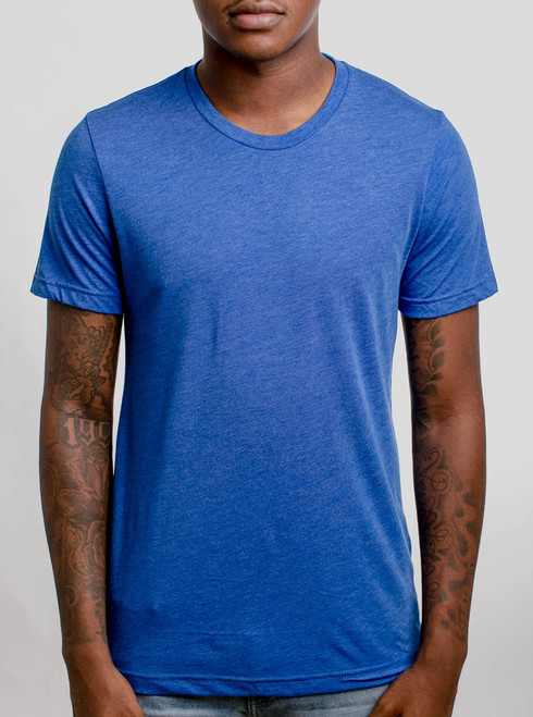 Royal Triblend Crew - Blank Men's T-Shirt
