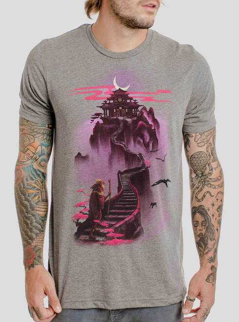 Ascending - Multicolor on Heather Grey Triblend Mens T Shirt