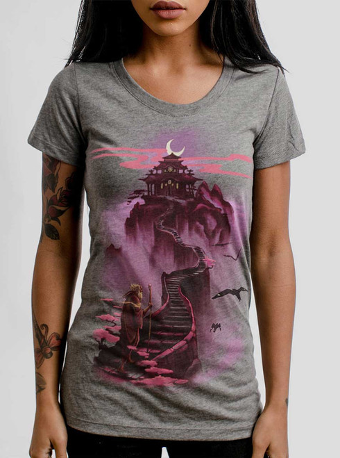 Ascending - Multicolor on Heather Grey Triblend Womens T-Shirt