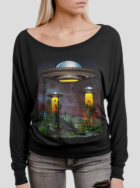 UFOs - Multicolor on Black Women's Long Sleeve Dolman